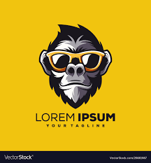 Monkey Design Logo Awesome Cool Monkey Logo Design