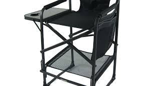 by makeup artist chair directors lightweight and foldable professional folding tall with side table designed