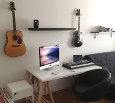 modern minimalist office computer. Floating Shelf Design Also Cool Black Swivel Chair And Minimal Computer Desk With Wooden Leg Idea Modern Minimalist Office