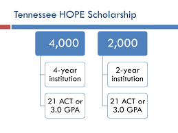 Hope Scholarship Chart Tennessee Hope Scholarship Ppt Download