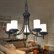 full image for rustic black wrought iron chandelier 5 light black wrought iron chandeliers cylinder glass
