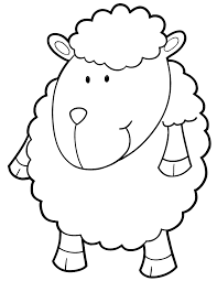 Small Picture Cartoon Sheep For Children Coloring Page H M Coloring Pages