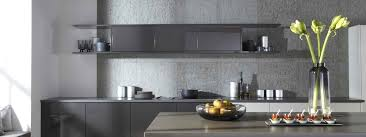 create feature walls in kitchens with lightweight and durable concrete panels
