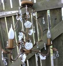3 Cage Toile Chandelier Ashley Laura Light French Droplets