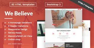 Free Church Website Templates Inspiration WeBelieve Church Charity Nonprofit Fundraising Responsive