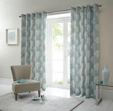 woodland ready made eyelet curtains in duck egg terrys fabrics uk