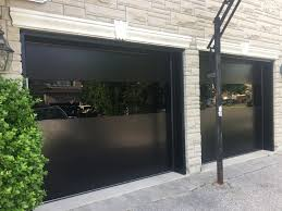 modern double garage doors black gl