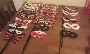Plastic Masks To Decorate DIY masquerade masks can use templates from online I used card 25