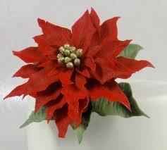 Sugar Paste Cake Decorating How To Make A Christmas Poinsettia Sugar Flower Gum Paste Cake