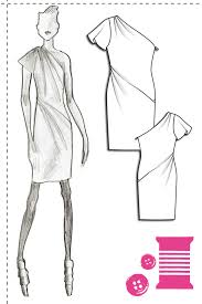 One Shoulder Dress Pattern