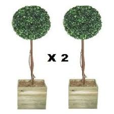 Artificial Topiary Trees With Solar Lights