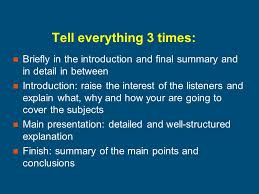 effective presentations some guidelines on presentations  4 tell everything