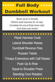 Dumbbell Exercises For Men Chart Beginners Weekly Workout Plan Beginner Workout Chart