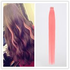 Light Pink Extensions 20pcs Light Pink Tape In Hair Extension Skin Weft Straight