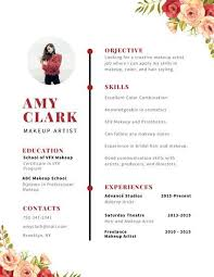 Red Watercolor Floral Accent Creative Resume Resumé Pinterest Impressive Resume With Accent