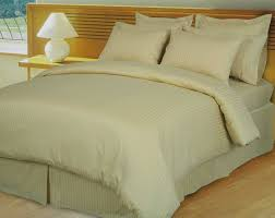 beige tan damask stripe down alternative 4 pc comforter set egyptian 600 count