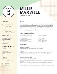 Examples Of A Modern Resume Resume Examples Modern Interior Pastel Designer And Design