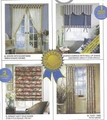 Curtain Sewing Patterns Mesmerizing Fold Tie Roll Shades Curtain Panels Curtains Sewing Pattern UNCUT
