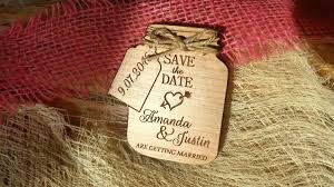 rustic save the date invitations mason jar save the date magnets mason jar magnet custom save rustic save the date