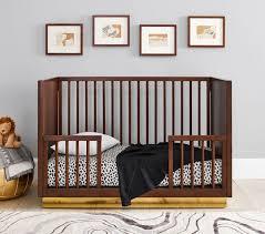 cheetah print modern crib sheet