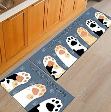 1 pcs aisebeau comfort flannel kitchen rug comfort kitchen floor mat non slip kitchen mat soft