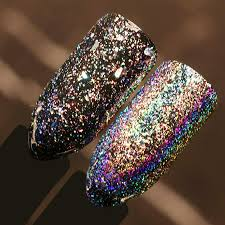 0 5g box holographic laser rainbow powder chrome pigment manicure nail art glitter accessories
