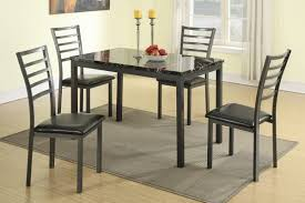 Metal Kitchen Table And Chairs Poundex F2362 Metal Dining Table Set