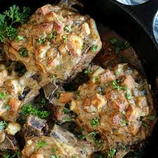 baked pork chops and stuffing easy