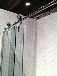 bathroom shower hardware barn door hardware glass shower doors and subway tile heron design bathroom showers home hardware
