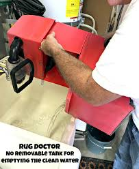 rug doctor no removable tank clean water empty