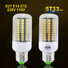 Flux Led Lights Us 1 45 40 Off E27 E14 Home Led Bulb High Luminous Flux Led Lights 5733smd Gold Line Chip 220v 110v E12 Real Wattage Spotlight 30 136leds In Led