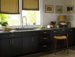 Black Kitchen Cabinets   Dayton Door Style   CliqStudios Contemporary  Kitchen