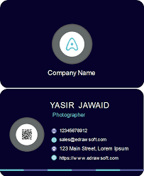 Free Black Background With White Cycles Business Card Templates