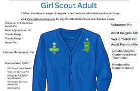 Girl scout uniforms for adults
