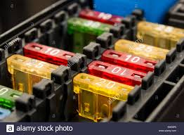 car fuse stock photos & car fuse stock images alamy fuse box in cab 2002 f150 supercrew close up on a car fuse box stock image