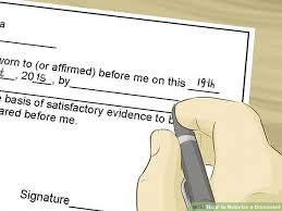 notarized letter how to notarize a document with pictures wikihow