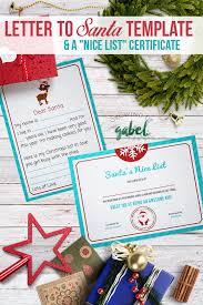 Free santa's nice list certificate template. Free Letter To Santa Template With Nice List Certificate