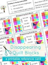Disappearing Quilt Blocks Printable Card | Craftsy & 1 / 5 Adamdwight.com