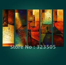 5 piece canvas wall art large panels abstract oil painting set on canvas unframed free shipping on canvas wall art large uk with 5 piece canvas wall art large panels abstract oil painting set on