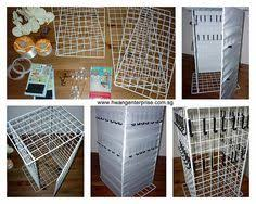 Craft Show Display Stands Booth Display for Fair DIY Display Shelf for Necklaces Booth 12