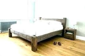Rustic Wooden Beds Wood Bed Frame Awesome Frames Dark Bedside Tables ...