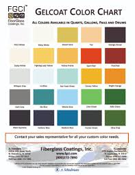 Need A Special Gelcoat Color Fiberglass Coatings