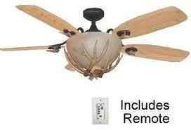 mesa vista rustic ceiling fan with antler fan light