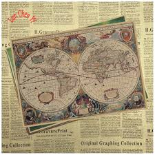 Vintage Nautical Charts Us 1 78 10 Off Vintage Nautical Charts Classic Kraft Paper Poster Bar Cafe Vintage High Quality Printing Drawing Core Decorative Painting In Wall