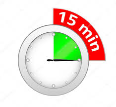 Timer 15 Timer 15 Minutes Stock Vector Eugenp 35895499
