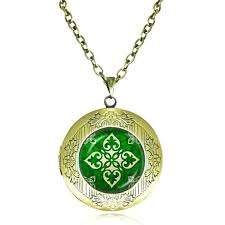 irish pendants latest locket necklace pendant women men jewelry glass dome green choker whole mens