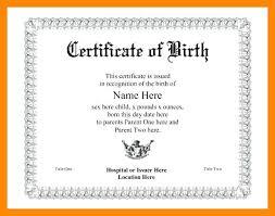 Birth Certificate Template Word Impressive Resume Template Emt Certificate Gocreatorco