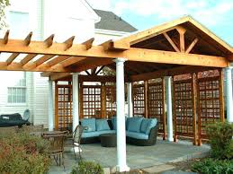 patio structures for shade ideas covered by pergola and roof structure outdoor diy
