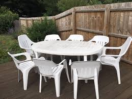 plastic garden table at your lawn