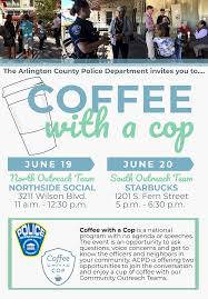 Coffee With A Cop Flyer Coffee With A Cop North Outreach Team Police